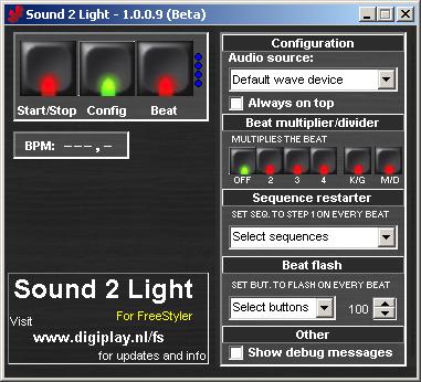 Sound to Light Interface [FreeStyler Wiki]